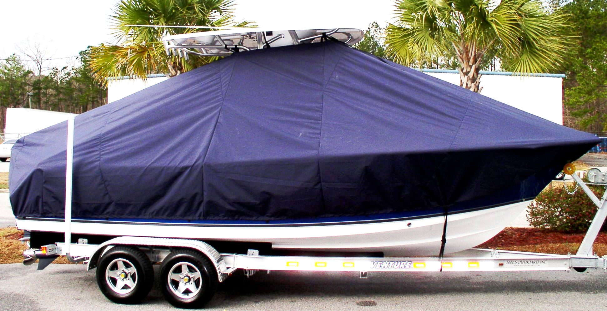 Sea Hunt Triton 225, 20xx, TTopCovers™ T-Top boat cover, starboard side