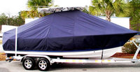 Photo of Sea Hunt® Triton-225 20xx T-Top Boat-Cover, viewed from Starboard Side