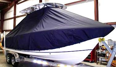 Sea Hunt Triton 240, 20xx, TTopCovers™ T-Top boat cover Front