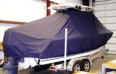 Sea Hunt Triton 240, 20xx, TTopCovers™ T-Top boat cover Rear