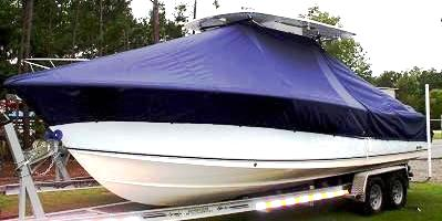 Sea Hunt Triton 290, 20xx, TTopCovers™ T-Top boat cover, port front