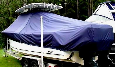 Sea Hunt Triton 290, 20xx, TTopCovers™ T-Top boat cover, port rear