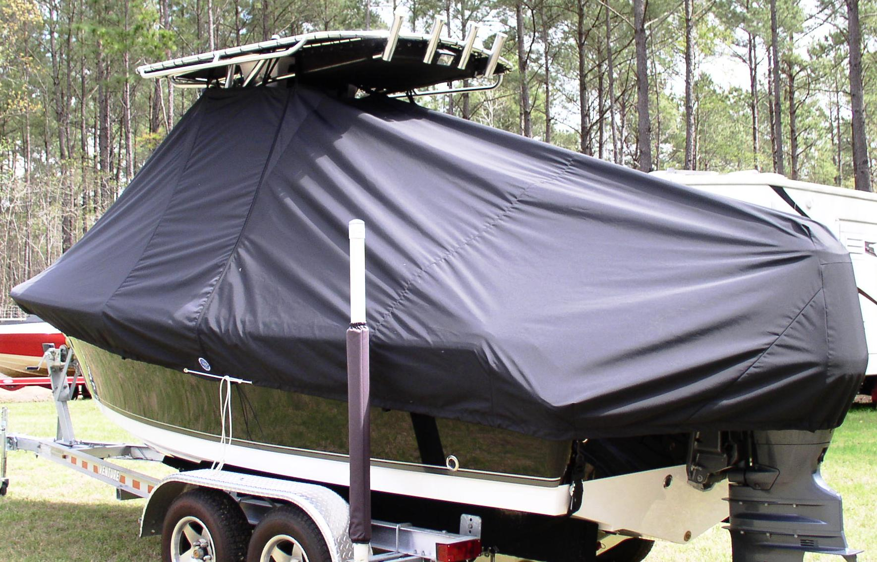 Sea Hunt Ultra 196, 20xx, TTopCovers™ T-Top boat cover, port rear