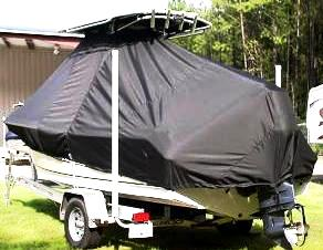 Sea Hunt Ultra 210, 20xx, TTopCovers™ T-Top boat cover, port rear