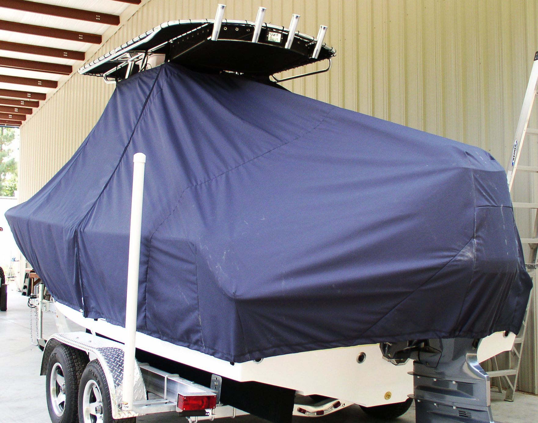 Sea Hunt Ultra 211, 20xx, TTopCovers™ T-Top boat cover, port rear