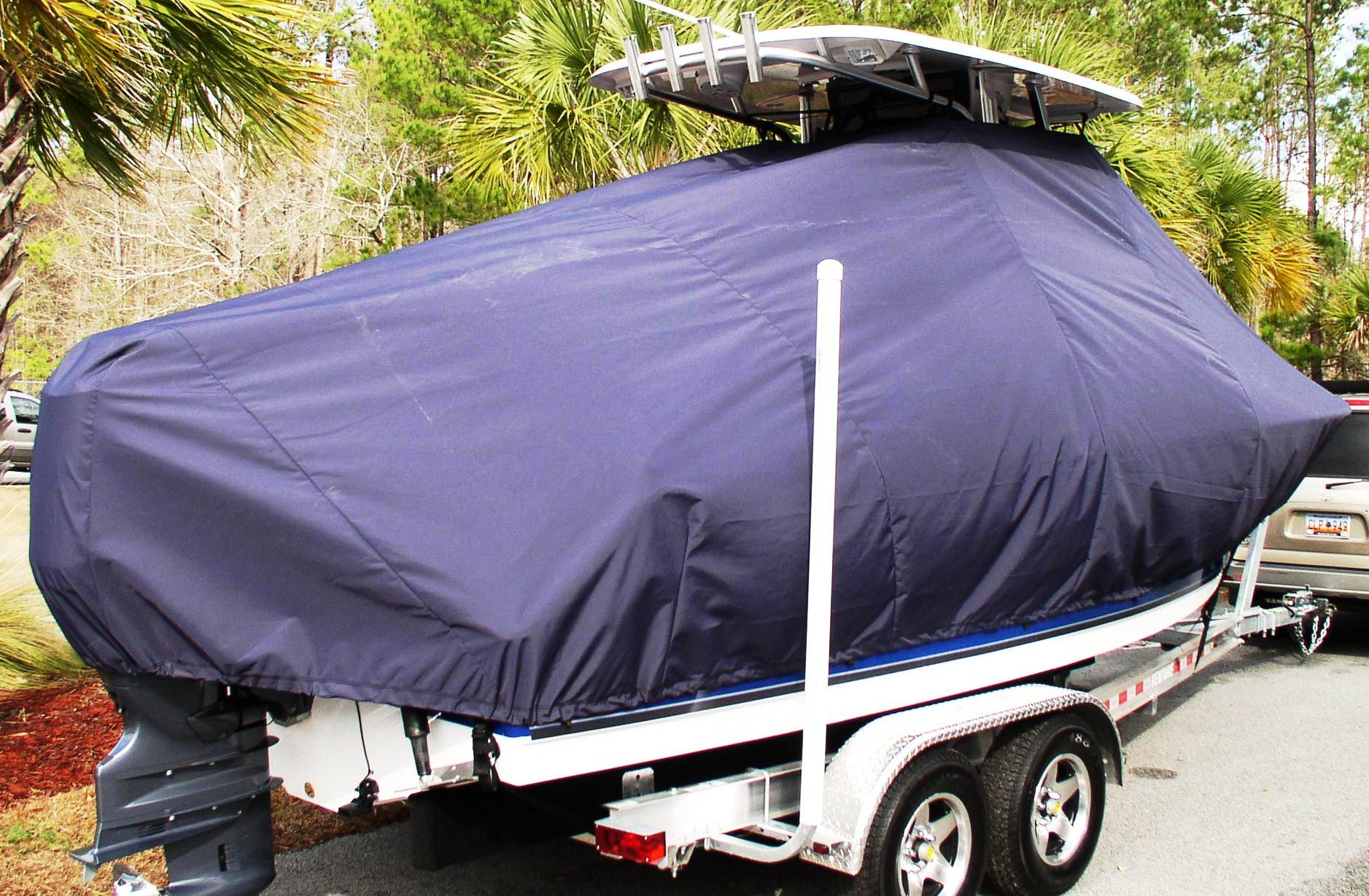 Sea Hunt Ultra 225, 2013, TTopCovers™ T-Top boat cover Black, starboard rear