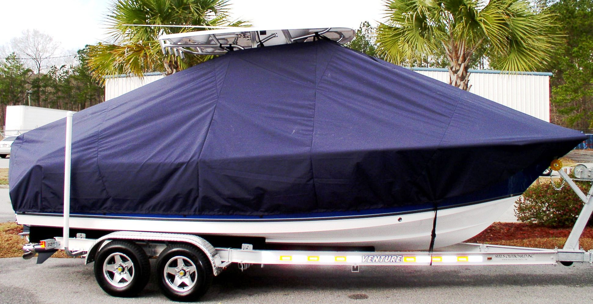 Sea Hunt Ultra 225, 20xx, TTopCovers™ T-Top boat cover, starboard side