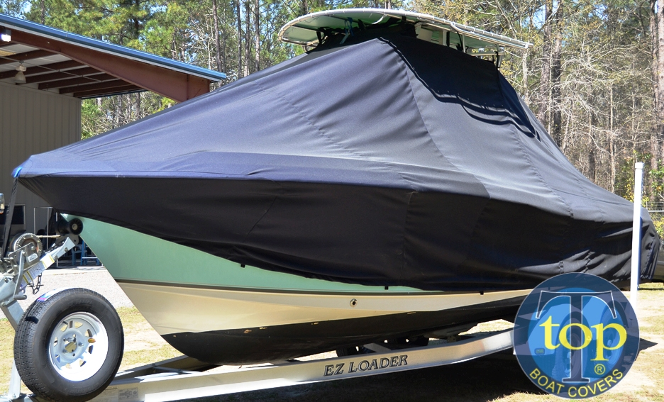 Sea Hunt Ultra 232, 20xx, TTopCovers™ T-Top boat cover, port front