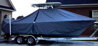 Photo of Sea Hunt® Ultra-234, 2013: T-Top Boat-Cover, viewed from Starboard Side
