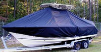 Photo of Sea Hunt® Ultra-234 20xx T-Top Boat-Cover, viewed from Port Front
