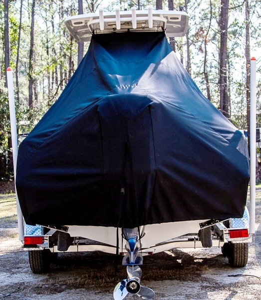 Sea Hunt Ultra 234, 20xx, TTopCovers™ T-Top boat cover rear