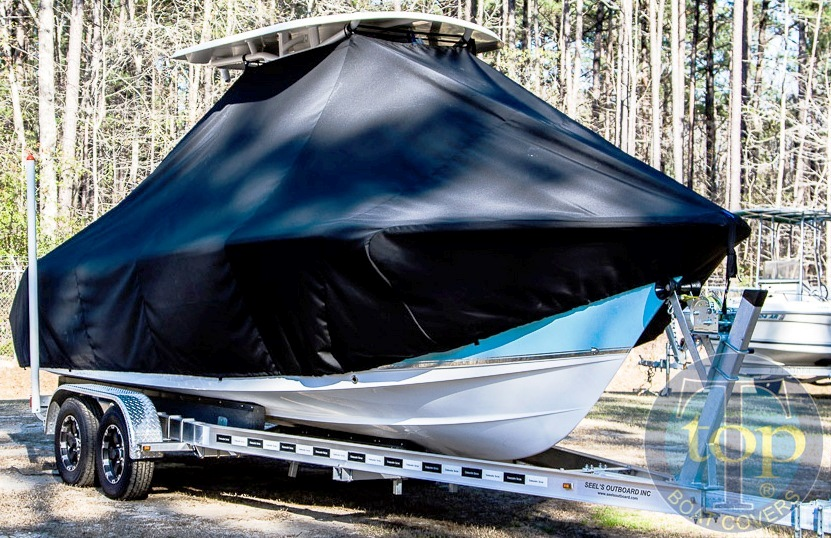 Sea Hunt Ultra 234, 20xx, TTopCovers™ T-Top boat cover, starboard front