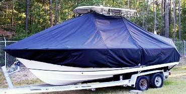 Sea Hunt Ultra 235, 20xx, TTopCovers™ T-Top boat cover, port front