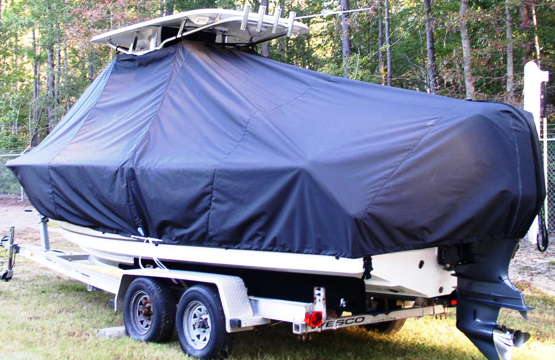 Sea Hunt Ultra 235, 20xx, TTopCovers™ T-Top boat cover, port rear