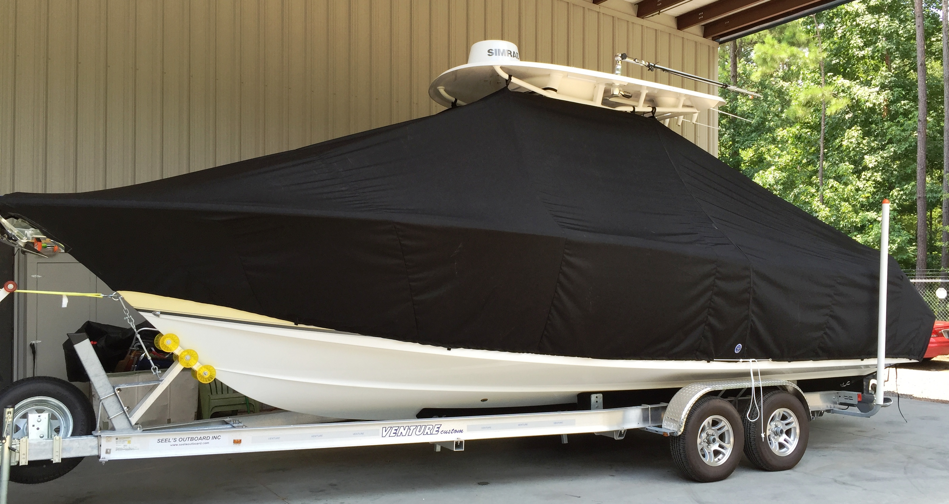 Sea Hunt Ultra 275, 20xx, TTopCovers™ T-Top boat cover, port front