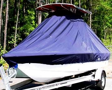 Sea Hunt XP19, 20xx, TTopCovers™ T-Top boat cover, port front