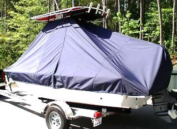 Sea Hunt XP19, 20xx, TTopCovers™ T-Top boat cover, port rear