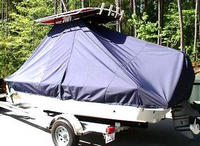 Photo of Sea Hunt® XP19 20xx T-Top Boat-Cover, viewed from Port Rear