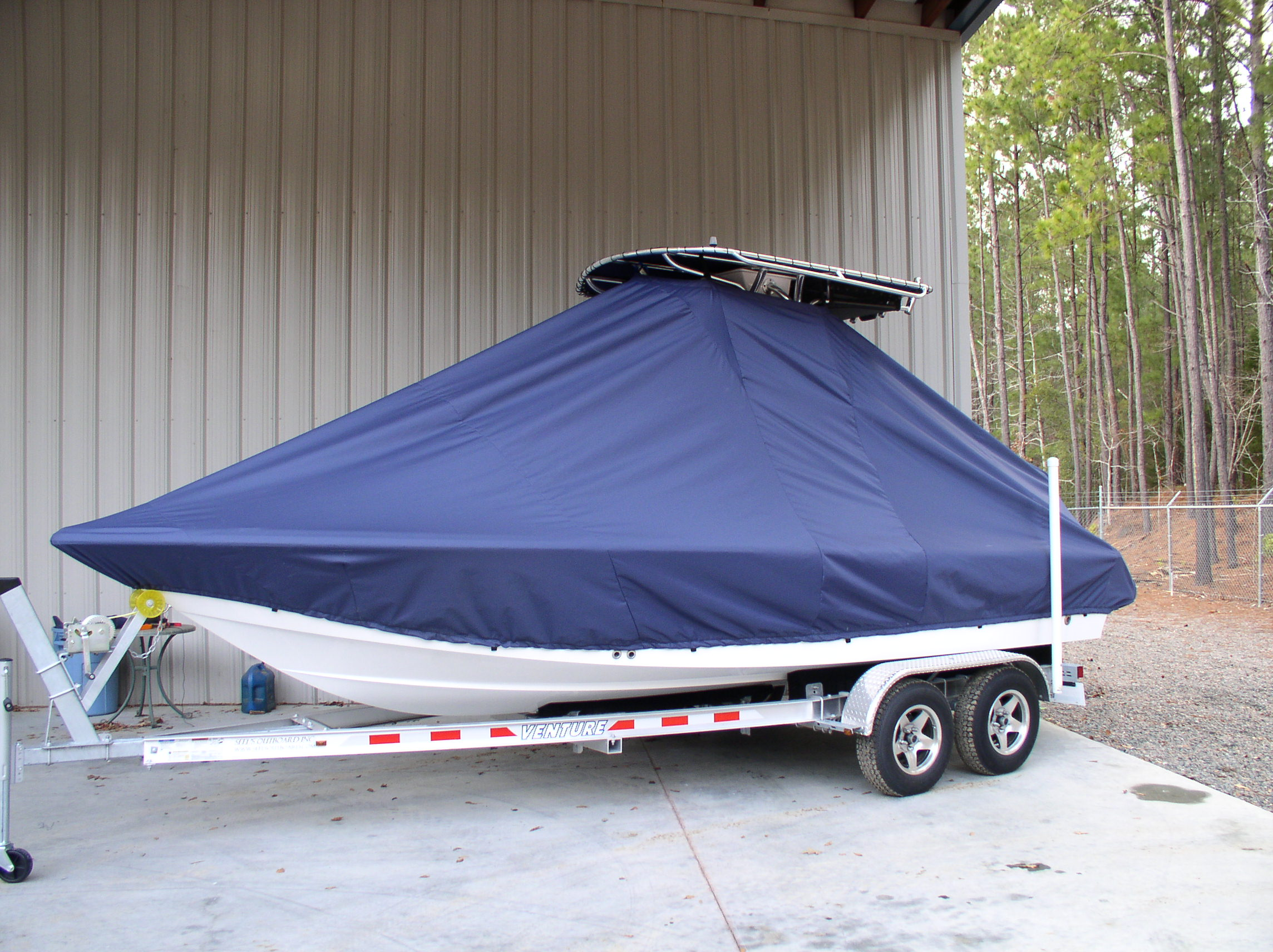 Sea Hunt XP21, 20xx, TTopCovers™ T-Top boat cover, port front