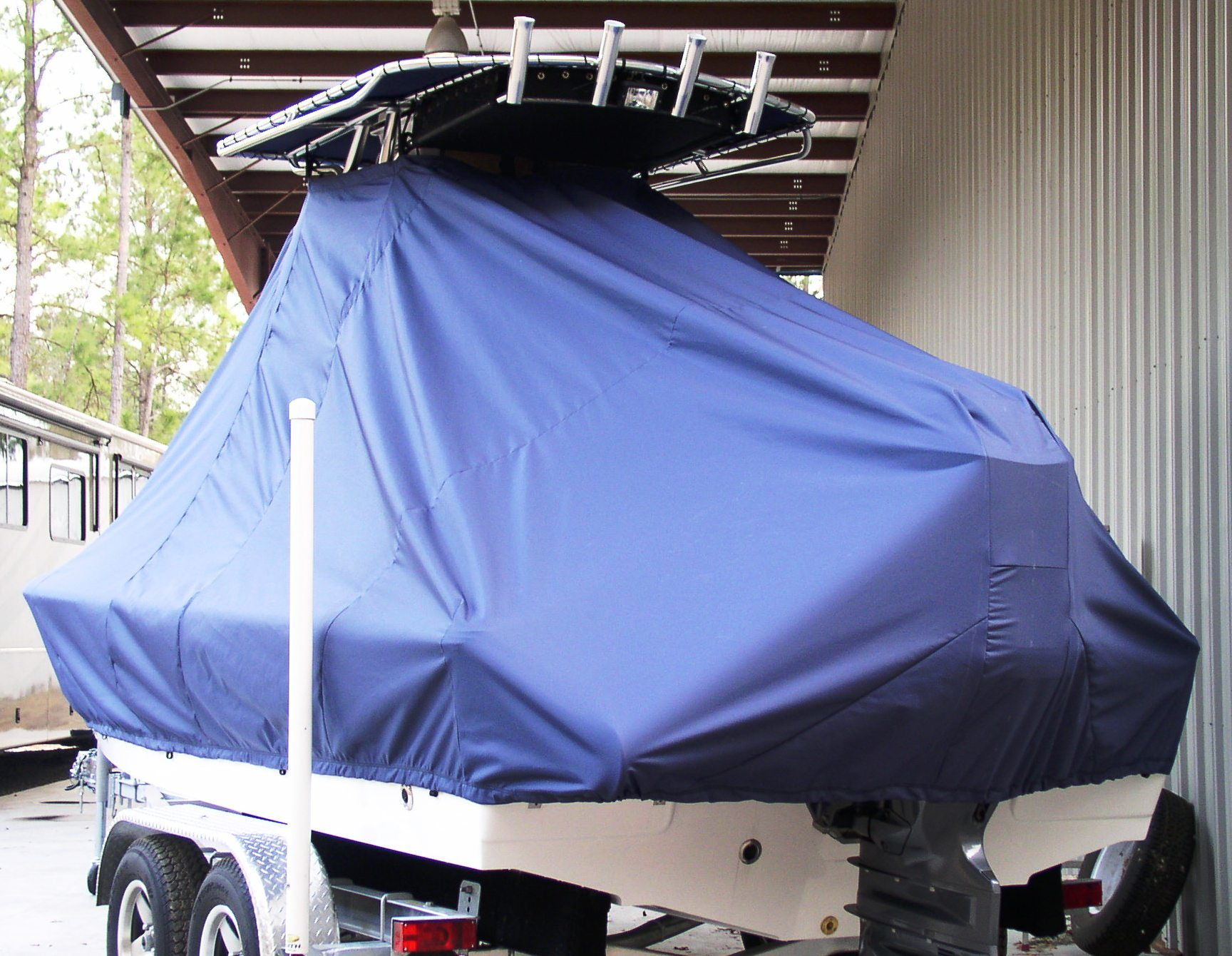 Sea Hunt XP21, 20xx, TTopCovers™ T-Top boat cover, port rear