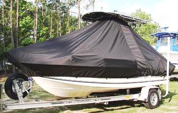 Sea King, 198CC, 20xx, TTopCovers™ T-Top boat cover, port front