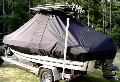 Sea King, 198CC, 20xx, TTopCovers™ T-Top boat cover, port rear