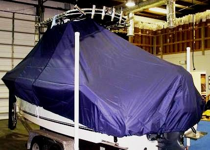 Sea King 210CC, 20xx, TTopCovers™ T-Top boat cover, port rear