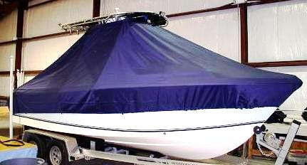 Sea King 210CC, 20xx, TTopCovers™ T-Top boat cover, starboard front