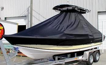 Sea King 218CC, 20xx, TTopCovers™ T-Top boat cover, port front