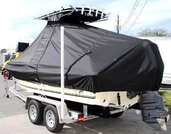 Sea King 218CC, 20xx, TTopCovers™ T-Top boat cover, port rear