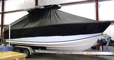 Sea King 23CC, 20xx, TTopCovers™ T-Top boat cover, starboard front