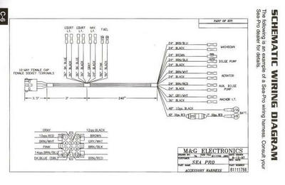 Sea-Pro Boats Wiring Schematic, Aug. 13, 1997, Image