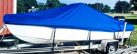 Photo of Sea-Pro® 170CC, 2003: Westland(r) Exact Fit Boat-Cover Sunbrella Pacific Blue, viewed from Port, Front