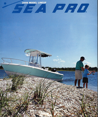 Photo of Sea-Pro® 186CC, 2008: Factory OEM T-Top Cargo Net, 2008: Sea-Pro® Brochure Cover