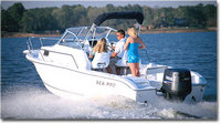 Photo of Sea-Pro® 206WA, 2003: OEM Factory Bimini-Top Black Sunbrella Canvas Booted