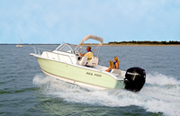 Photo of Sea-Pro® 206WA, 2008: OEM Factory Bimini-Top White Sunbrella Canvas Booted
