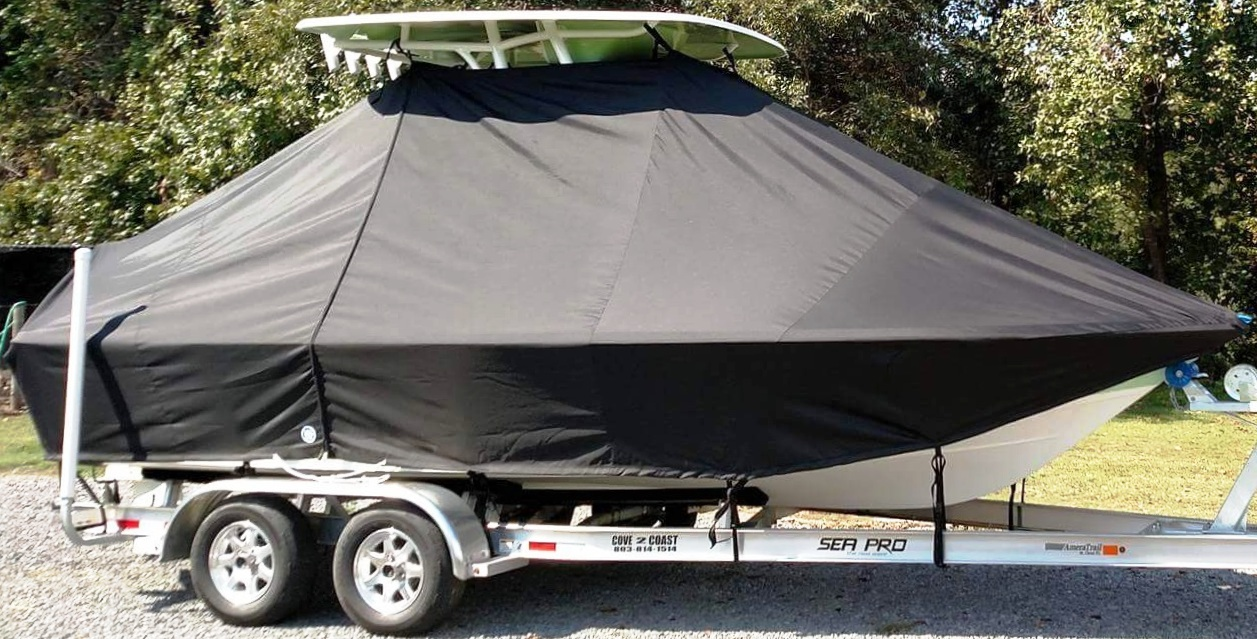Sea Pro, 208 Bay, 20xx, TTopCovers™ T-Top boat cover, starboard front