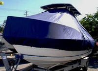 Photo of Sea-Pro® 210CC 20xx T-Top Boat-Cover, viewed from Port, Front