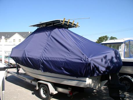Sea Pro 210CC, 20xx, TTopCovers™ T-Top boat cover, port rear