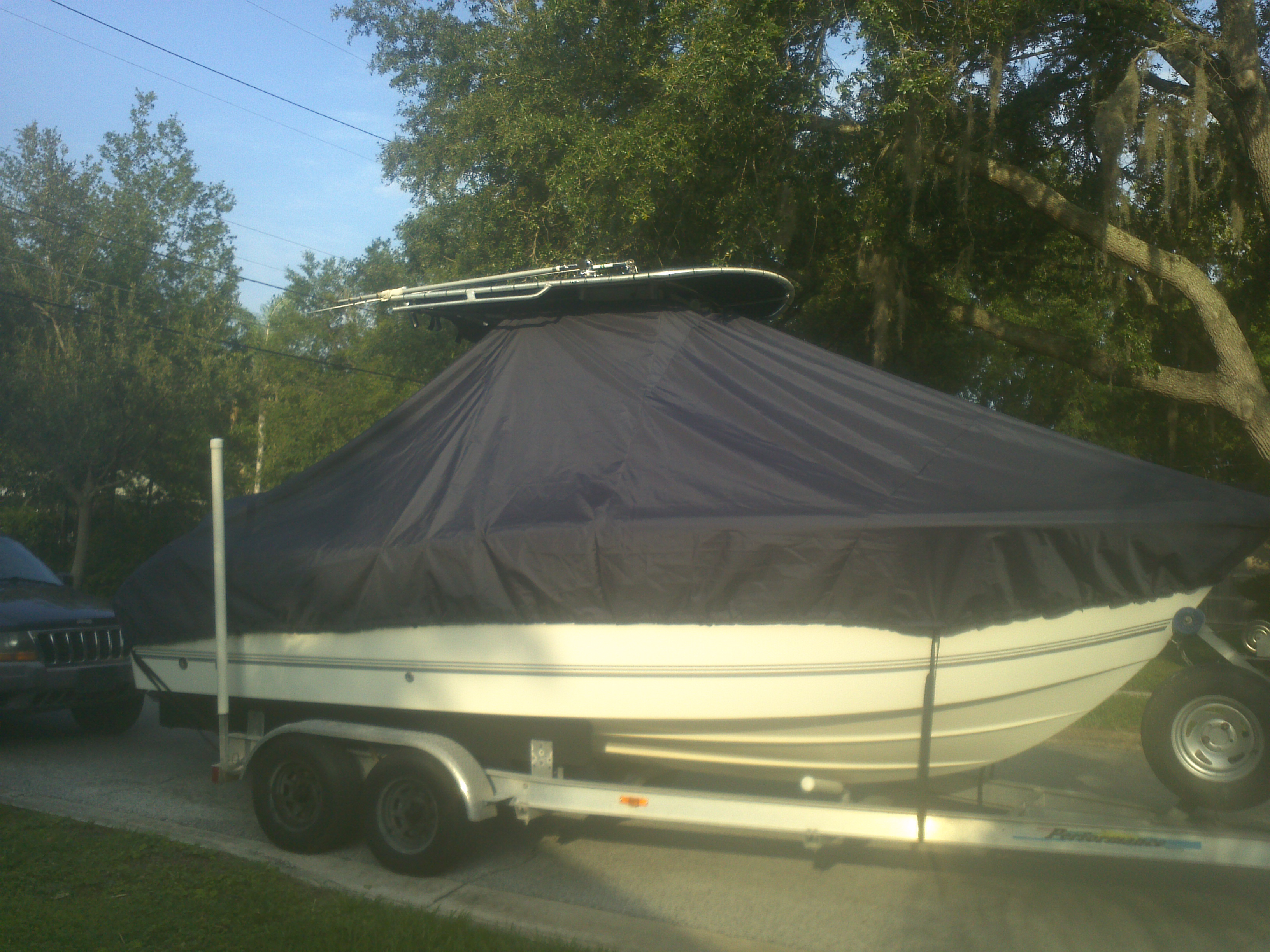 Sea Pro 220CC, 20xx, TTopCovers™ T-Top boat cover, starboard side