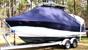 Sea Pro 228CC, 20xx, TTopCovers™ T-Top boat cover Front 487