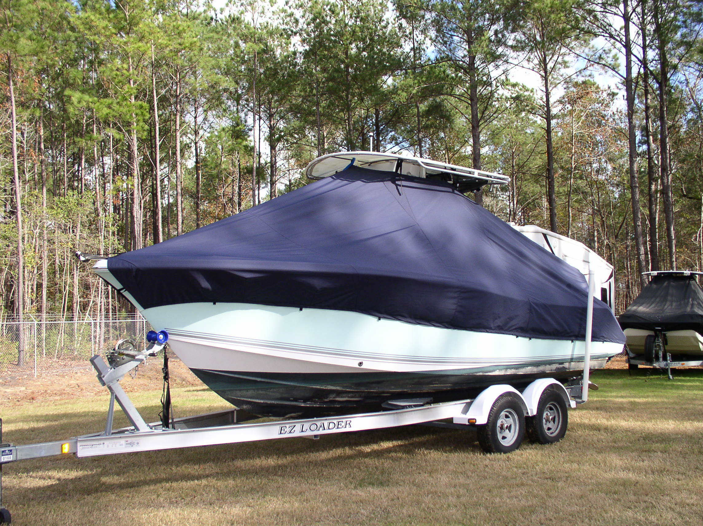 Sea Pro 228CC, 20xx, TTopCovers™ T-Top boat cover, port front