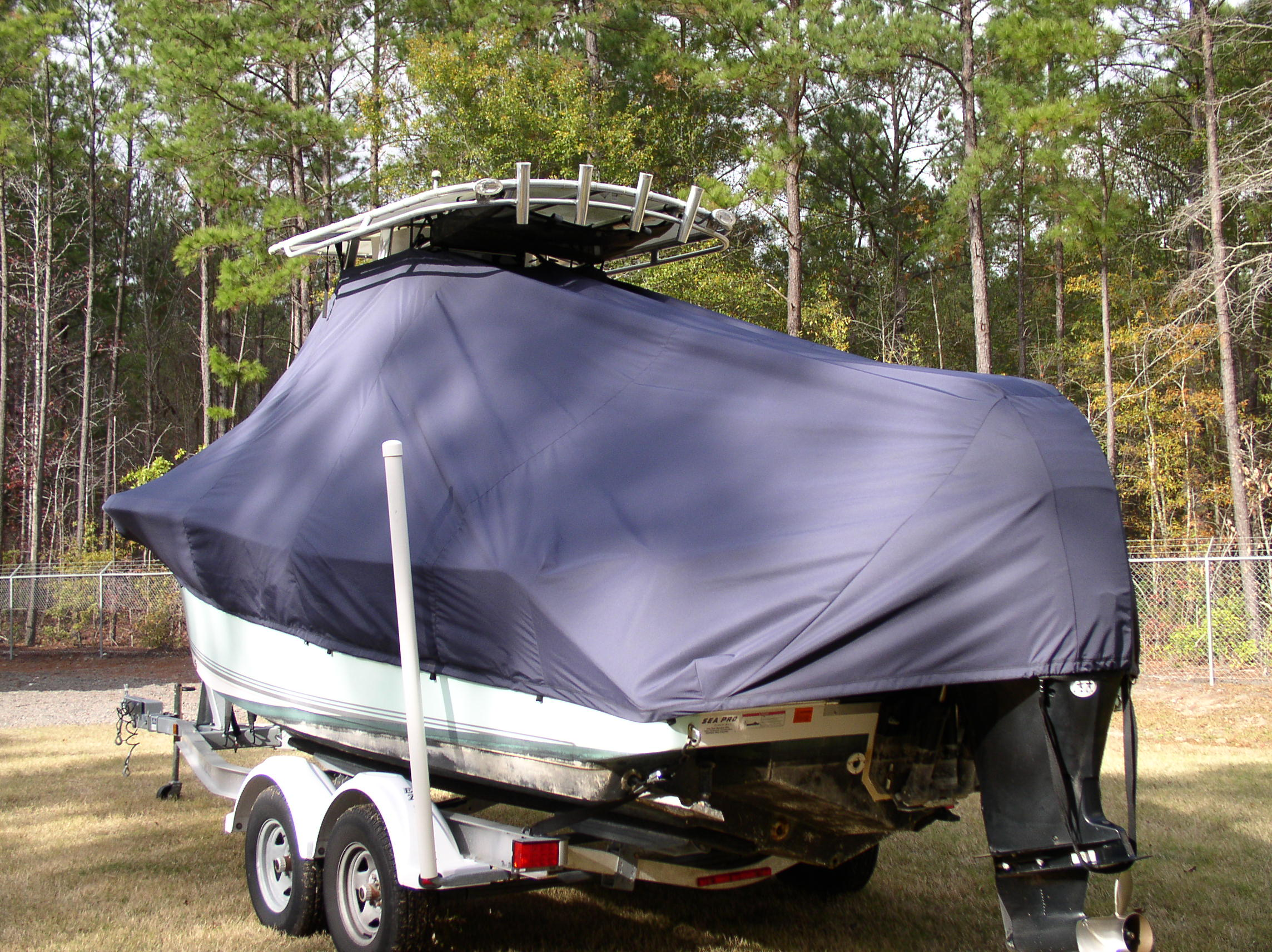 Sea Pro 228CC, 20xx, TTopCovers™ T-Top boat cover, port rear