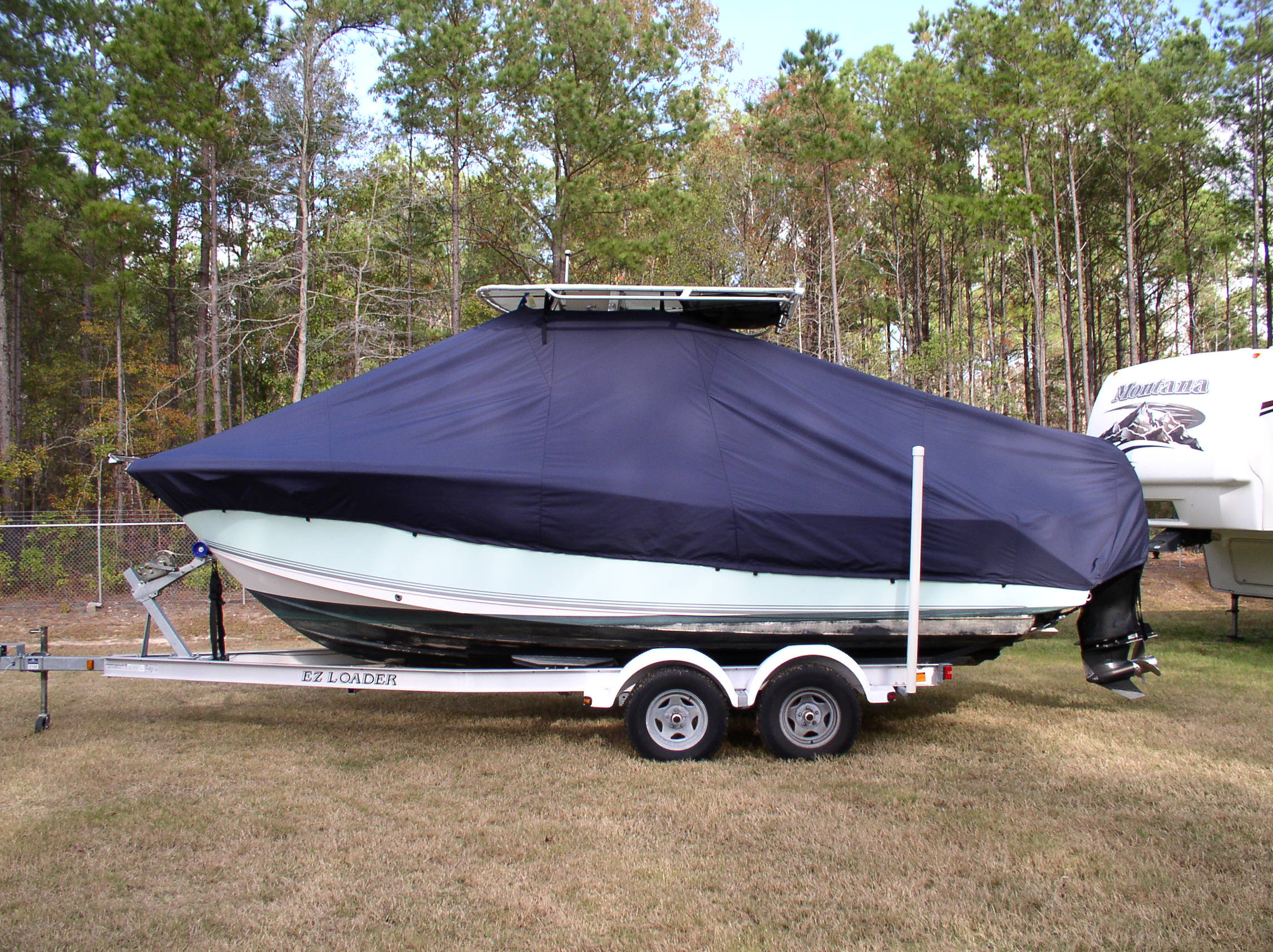 Sea Pro 228CC, 20xx, TTopCovers™ T-Top boat cover, port side