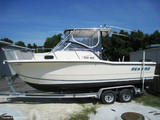 1999 Sea-Pro® 235WA, Factory OEM Hard-Top with Clear Spray-Shield and Side-Curtains