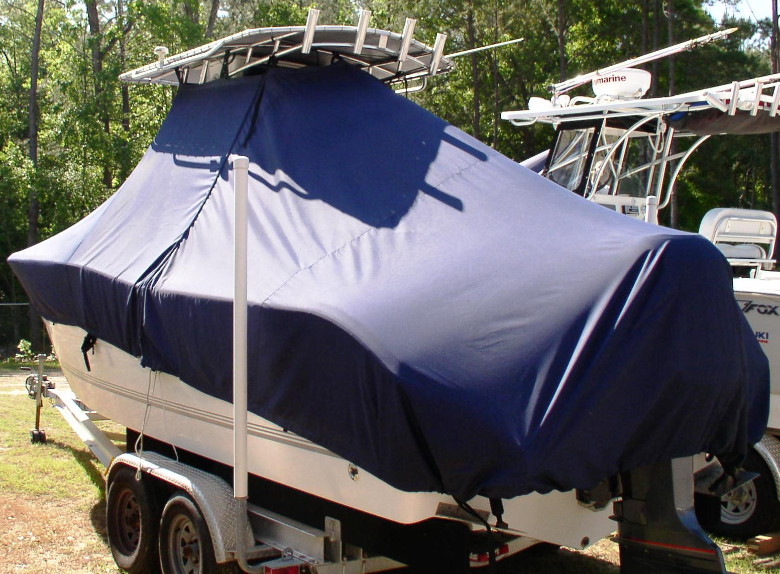 Sea Pro 238CC, 20xx, TTopCovers™ T-Top boat cover, port rear