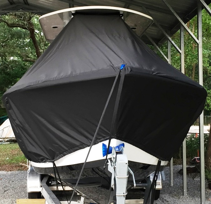 Sea Pro 239CC, 20xx, TTopCovers™ T-Top boat cover front