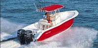 2008 Sea-Pro® 270CC with Factory OEM (EMC) T-Top with Jockey Red Sunbrella Canvas