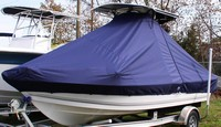 Photo of Sea-Pro® SV1900CC 20xx T-Top Boat-Cover with Trolling Motor, viewed from Port, Front