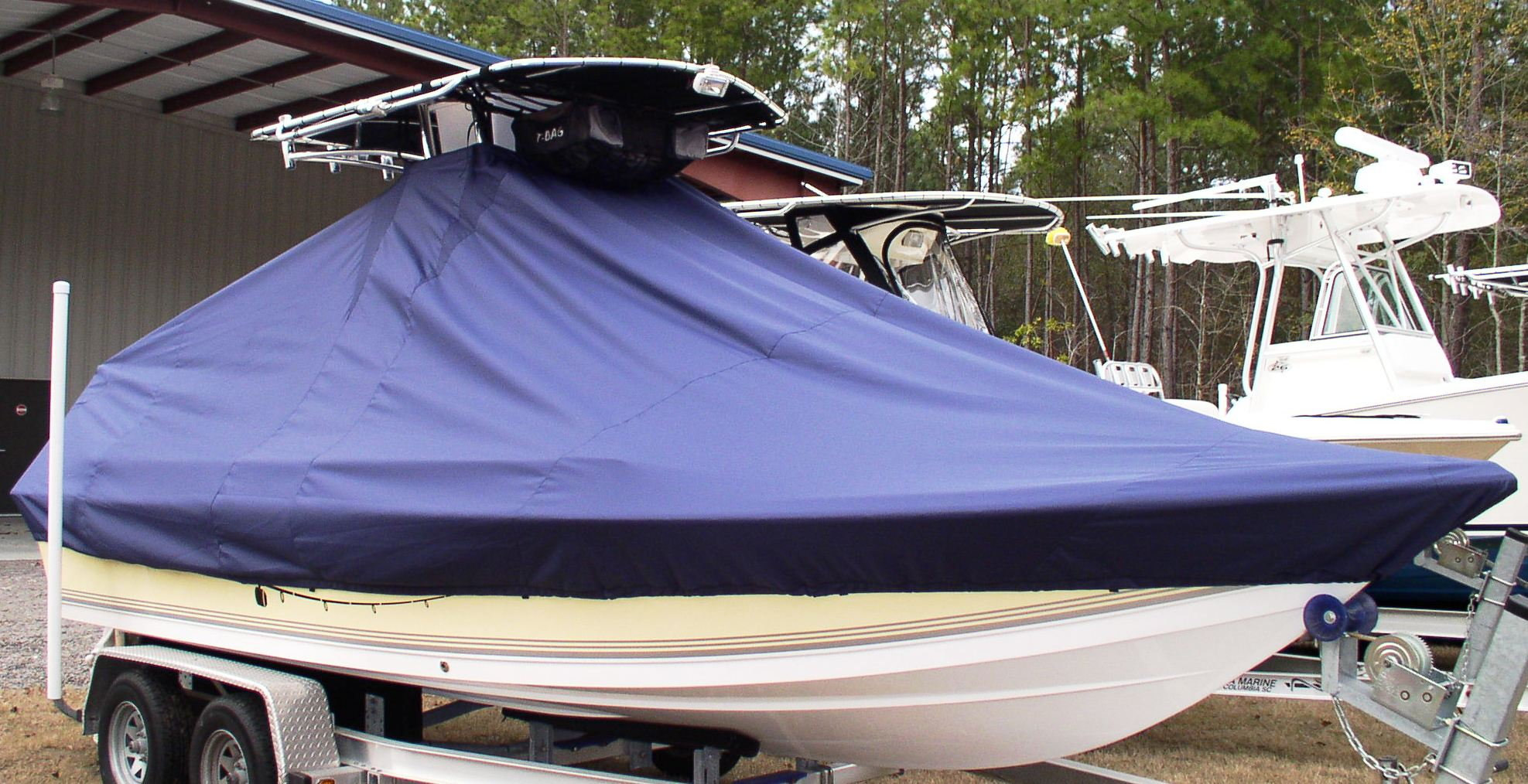 Sea Pro SV2100CC, 20xx, TTopCovers™ T-Top boat cover, starboard front